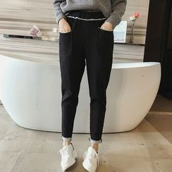 Little V - Fleece-Lined Tapered Pants