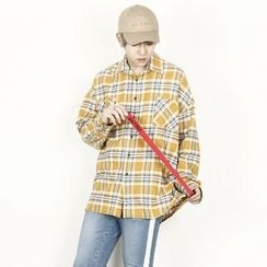 Rememberclick - Long-Sleeve Check Shirt