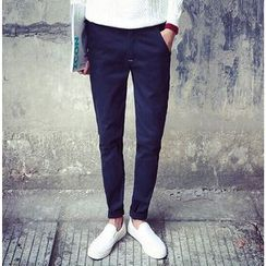 Bestrooy - Plain Tapered Pants