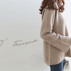 DAILY LOOK - Bell-Sleeve Wool Blend Knit Top