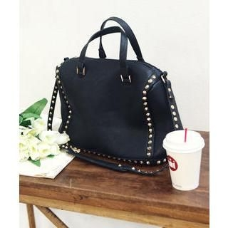 DANI LOVE - Faux Leather Studded Shoulder Bag