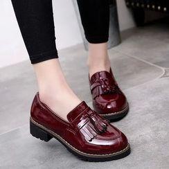 Satomi - Tasseled Patent Loafers
