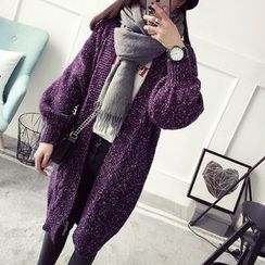 Qimi - Cable Knit Long Cardigan