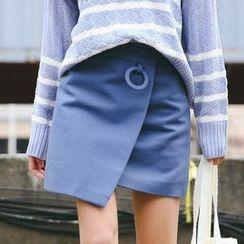 SUYISODA - Wrap Front A-Line Skirt
