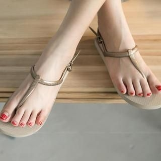 FM Shoes - Flat Thong Sandals