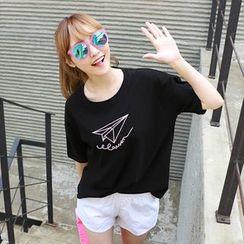 Dodostyle - 印花垂肩T恤