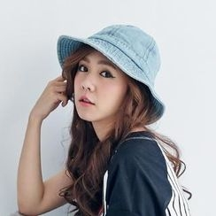BAIMOMO - Stitched Denim Bucket Hat