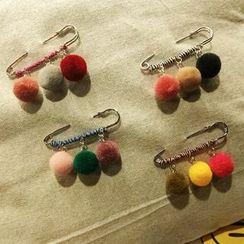 Azalea - Bobble Safety Pin Brooch