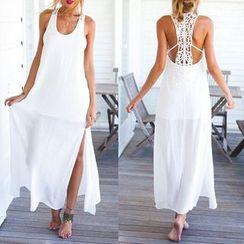 Katemi - Lace-Panel Maxi Dress