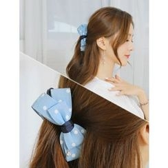 soo n soo - Dotted Bow Denim Hair Pin