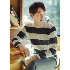 JOGUNSHOP - Long-Sleeve Striped T-Shirt