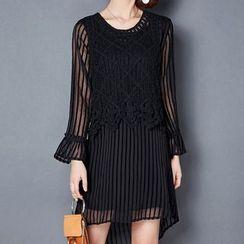NINETTE - Mock Two-Piece Dress