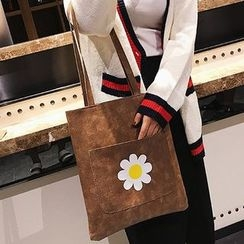 Lizzy - Faux-Leather Printed Tote with Pouch