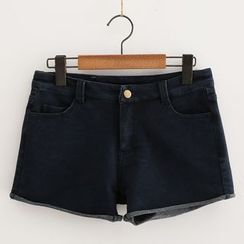 Piko - Roll-trim Denim Shorts