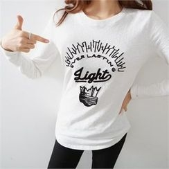 PIPPIN - Round-Neck Embroidered T-Shirt