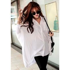 REDOPIN - Oversized Dolman-Sleeve Shirt