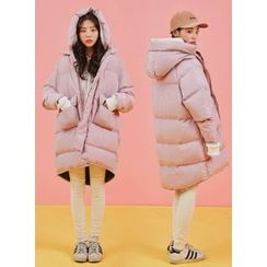 icecream12 - Hood Zip-Up Thick Padded Coat