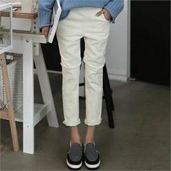 CHICFOX - Straight-Cut Leggings Pants