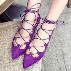 SouthBay Shoes - Lace-Up Flats