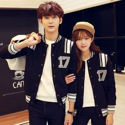 Azure - Couple Matching Baseball Jacket