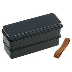Skater - Earth Color Seal Lid Lunch Box (Black)