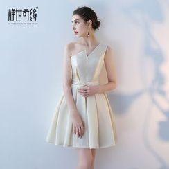 靜世奇緣 - 單肩禮服裙
