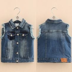 Seashells Kids - Kids Washed Denim Vest