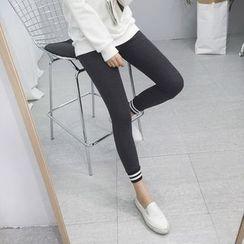 Windflower - Striped Cuff Leggings