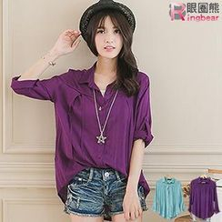 RingBear - Cuff Sleeved Long Blouse
