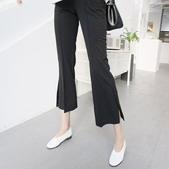MARSHMALLOW - Maternity Seam-Front Cropped Pants