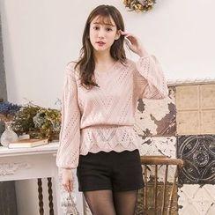 Tokyo Fashion - Pointelle Knit Top