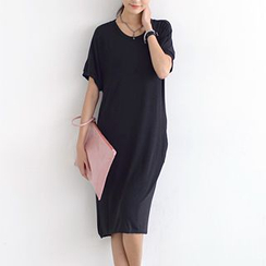 SO Central - Short-Sleeve Long T-Shirt Dress