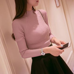 Cotton Candy - Ribbed Knit Top