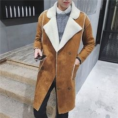 Bay Go Mall - Fleece Collar Long Coat