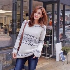 Styleberry - Wool Blend Patterned Sweater
