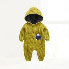 ciciibear - Kids Animal Chevron Hooded One-piece