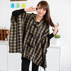 59 Seconds - Hooded Toggle Poncho