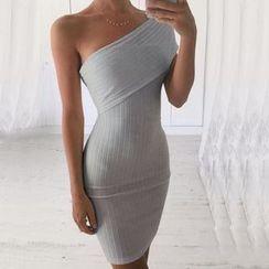 Fashion Street - One-Shoulder Bodycon Dress