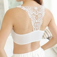 Meigo - Lace Panel Bra Top