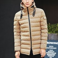 Bay Go Mall - Plain Hooded Padded Jacket