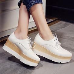 Sidewalk - Lace-Up Platform Shoes