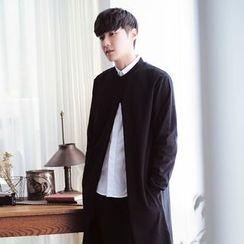 Zeesebon - Plain Front Slit Long Coat