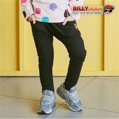 BILLY JEAN - Kids Lettering-Patch Cotton Pants