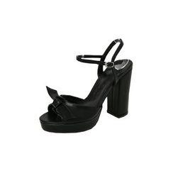 DABAGIRL - Bow Ankle-Strap High-Heel Sandals