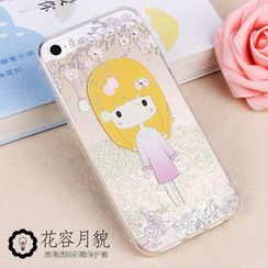 Kindtoy - Rhinestone Girl Print iPhone 5s Case