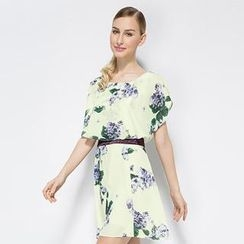 O.SA - Floral Layered Chiffon Dress