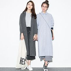 Fashion Street - Long Puff Sleeve Long Shirt