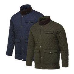 Seoul Homme - Mock-Neck Single-Button Padded Jacket