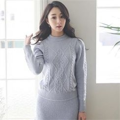 ode' - Wool Blend Cable-Knit Sweater