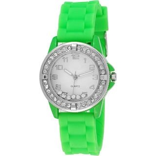 Collezio - Rhinestone-Detail Jelly Strap Watch